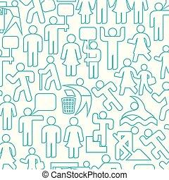 gens, recyclage, grand-père, ensemble, femme, ligne, icônes, modèle, famille, gym), mère, wc, parent, signe, icône, (happy, père, fond, enfants, icône, mince, femme, mâle, démonstrateurs