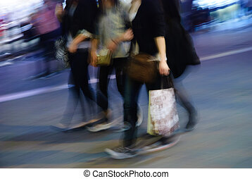 gens rue, promenade
