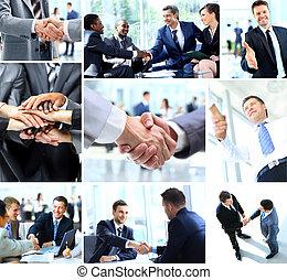 gens, secousse,  Business, mains