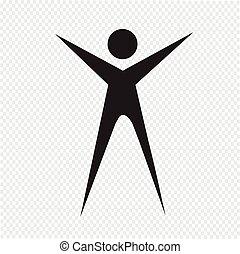 gens, signe, icône