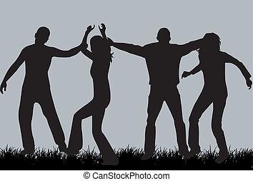 gens, silhouette