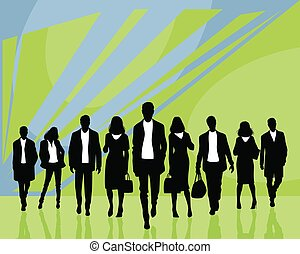 gens, silhouettes, business