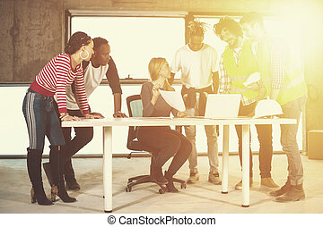 gens, site, construction, multiethnic, business