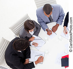 gens, stratégie, international, nouvelles affaires, discuter...