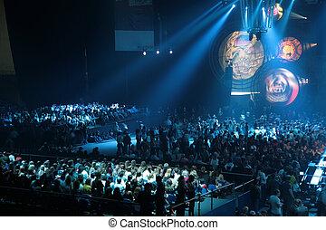 gens, sur, concert