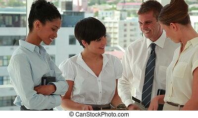 gens, sur, conversation, document, business