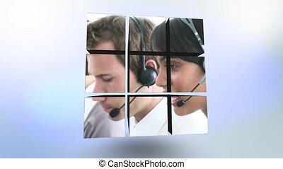 gens, sur, vidéos, business, cube