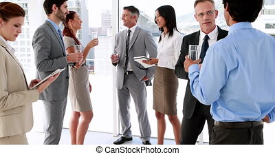 gens, talkin, debout, business