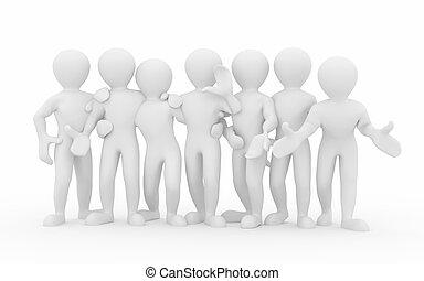 gens., teamwork., groupe, friendship.