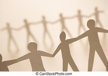 gens tenant mains