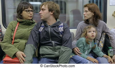 gens, train, métro