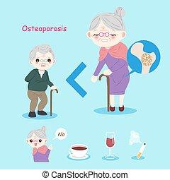 gens, vieux, ostéoporose