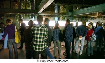 gens, visiter, pendant, bière, usine, guinness, dublin, excursion