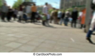 gens, vitesse, défaillance, rue, temps