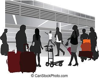 gens voyageant