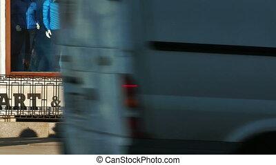 gens, vue, long, côté, nevsky, opposé, st.petersburg, prospekt, rue, promenade