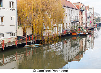 Gent. - Traditional old Belgian houses built along the...