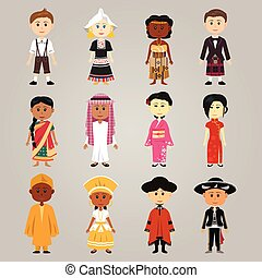 gente, étnico, diferente