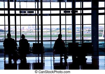 gente, aeropuerto