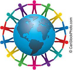 gente, alrededor del mundo