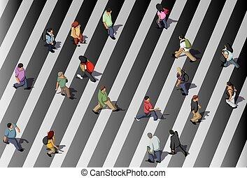 gente, calle de la travesía