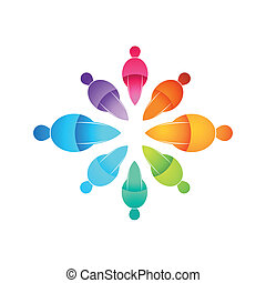 gente, conectado, icono