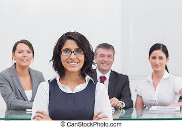 gente, cuatro, empresa / negocio