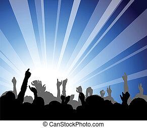 gente, en, el, concierto