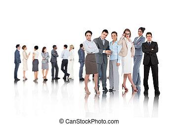 gente, imagen compuesta, empresa / negocio