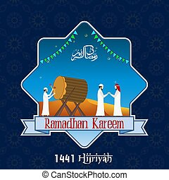 gente, musulmán, kareem, ramadan