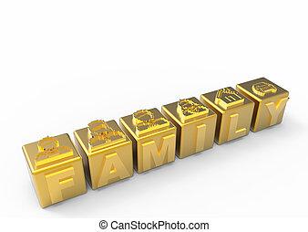 gente, oro, familia , iconos
