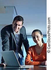 gente, reunión, equipo negocio