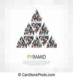 gente, señal, pirámide