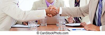 gente, trato, cierre, empresa / negocio, dos