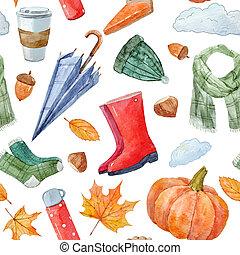 gentil, automne, modèle