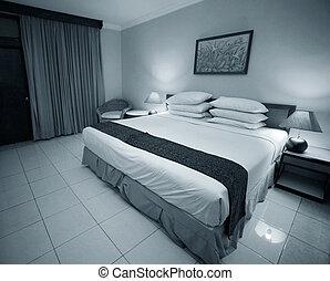gentil, chambre à coucher