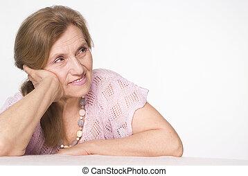 gentil, femme âgée