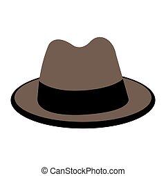 gentiluomo, cappello, isolato