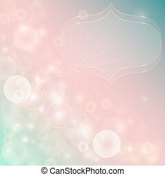 Gentle abstract background with bokeh effect. Vector...