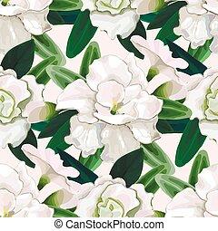 Gentle azalea pattern - Gentle azalea vignettes. Vector...