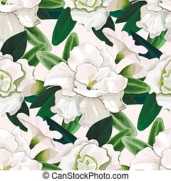 Gentle azalea pattern - Gentle azalea vignettes. Vector ...