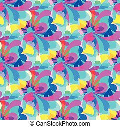 gentle beautiful flowers seamless pattern