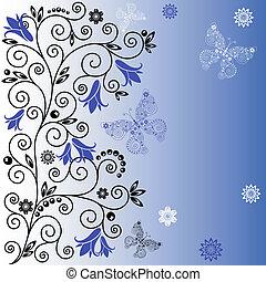 Gentle blue background
