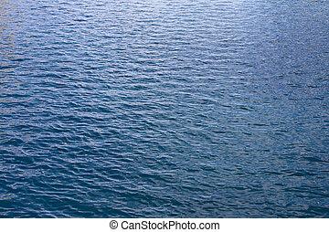 Gentle Blue Ocean Water Waves