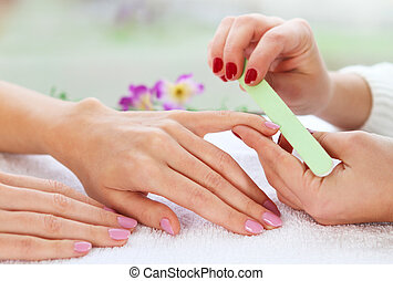 Gentle care of nails in a beauty salon - Gentle care of...