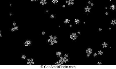 Gentle Christmas Morning Snow seamless loop Green Screen...