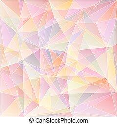 gentle - Vector light pink geometric background