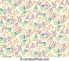 Gentle flowers seamless pattern