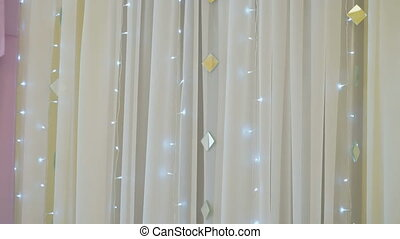 Gentle hall decoration for wedding reception