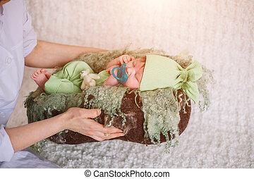 gentle hands mother. child falls asleep - gentle hands...